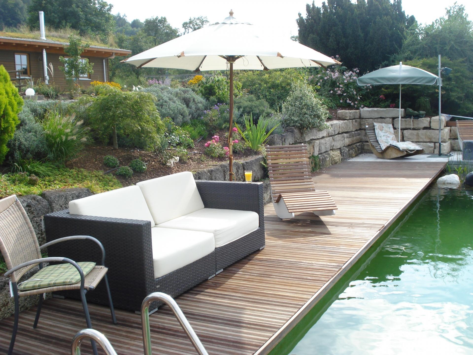 Pool Mit Glaswand Garten